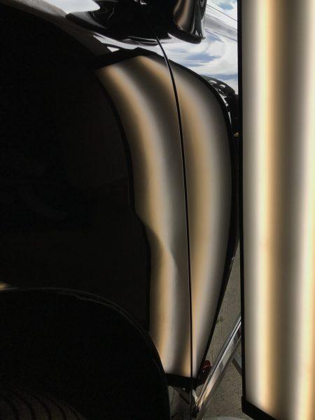 LEXUS(レクサス) RX 左フロントフェンダーに出来た凹み  兵庫県三木市の方からのご依頼