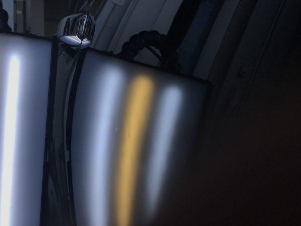 オデッセイ 運転席のドアに出来た凹みをデントリペアで修復 神戸市長田区にお住いの方からのご依頼