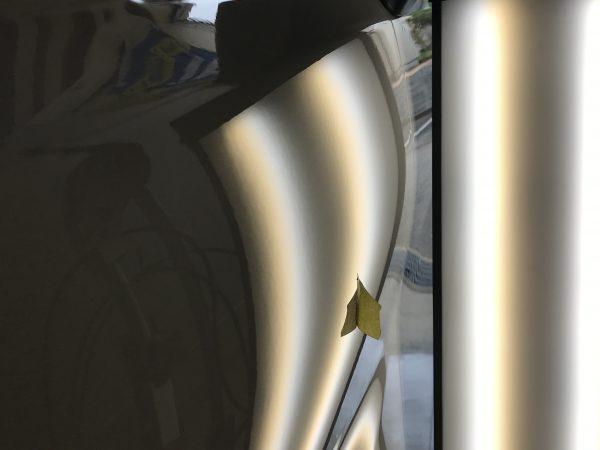 30ヴェルファイア 左フロントフェンダーの凹みをデントリペアで修復