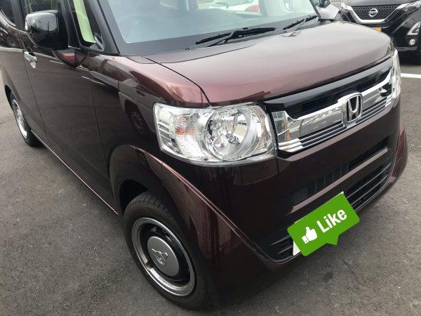 N BOX/ 運転席のドアに出来た凹みをデントリペアで修復 神戸市西区の方からのご依頼です!