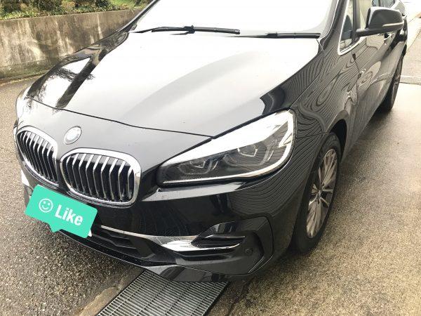 BMW 2シリーズ アクティブ ツアラー 右リアフェンダーに出来た凹みをデントリペアで修復 神戸市北区にお住まいの方からご依頼頂きました!!