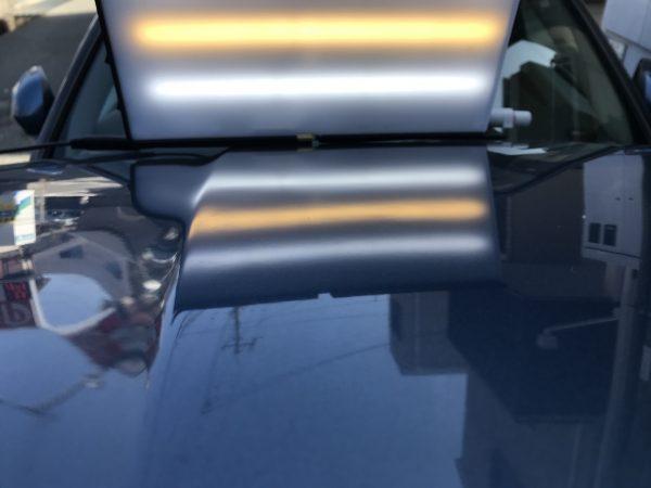 ジャガー X ボンネットフードに出来た凹みをデントリペアで修復 尼崎市にお住まいの方からご依頼頂きました!!