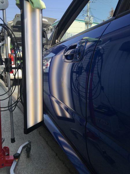 インプレッサ S203 助手席側のドアに出来た凹みをデントリペアで修復 神戸市中央区にお住まいの方からご依頼を頂きました!!