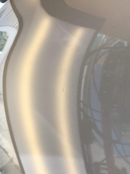 ベンツ GLC220d ドアに出来たドアパンチ凹みをデントリペア修理 神戸市西区の方からご依頼を頂きました!