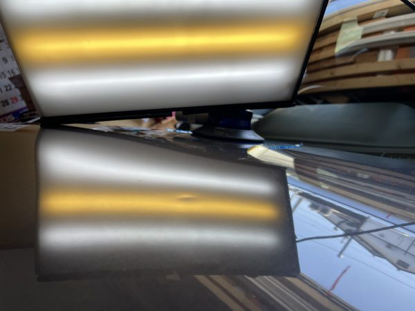 NHP10 アクア ボンネットフードに来た凹みをデントリペア修理 神戸市須磨区の業者様からご依頼を頂きました!!