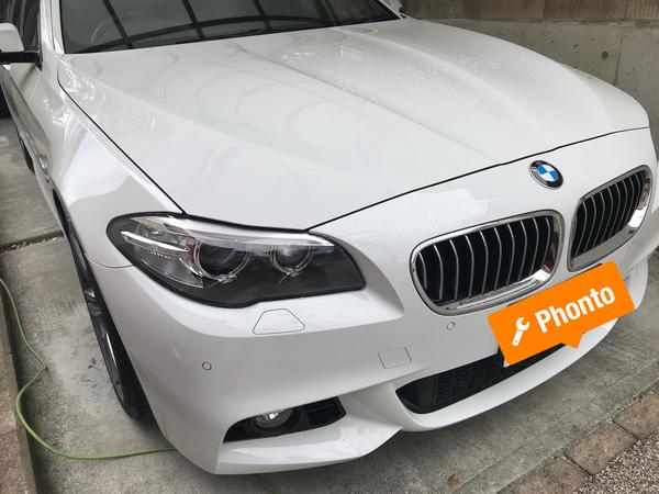 BMW M3 リアドアの凹み 神戸市須磨区の方からの御依頼