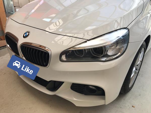 BMW 218i 左フロントドア中央付近に出来た凹み 業者様からご依頼頂きました