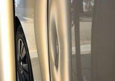 NV350 キャラバン 右スライドドアの大きな凹みを《デントリペア》で修復 須磨区の方からのご依頼