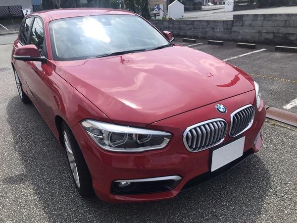 BMW 118i リアドアに出来た凹みをデントリペアで修理 神戸市東灘区の方からのご依頼です!!